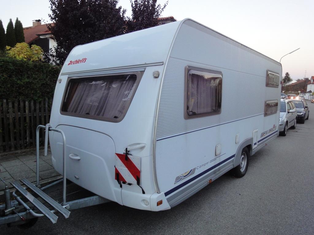 dethleffs camper 510 tk wohnwagen wohnanh nger akkupuffer camping 5 schlafpl tze ebay. Black Bedroom Furniture Sets. Home Design Ideas